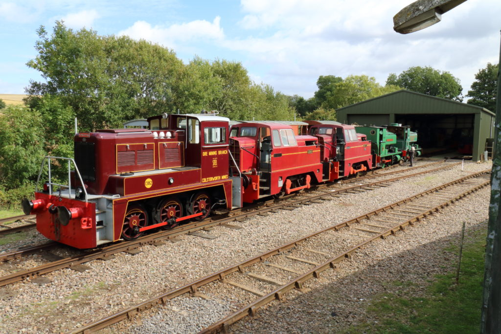 The loco line up at RBR